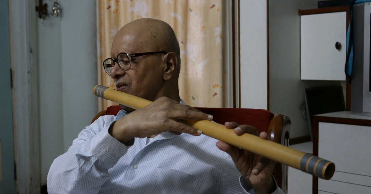 75-Year-Old May Be Visually-Impaired, but He Is Still a Flautist & Sketch Artist!