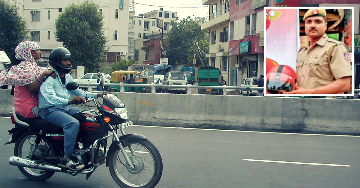 Meet the Delhi Cop Who Gifts Safety Violators Helmets Free of Cost!