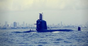 INS Kalvari at sea. Picture Courtesy: Wikimedia Commons.
