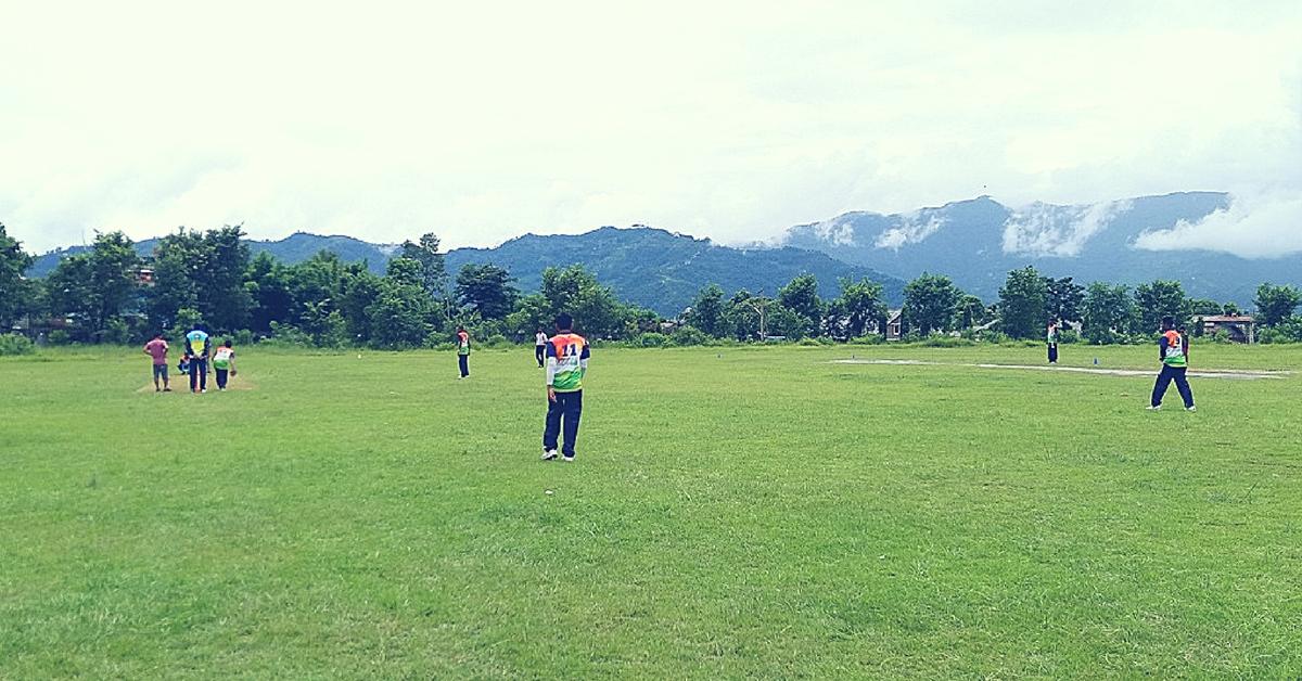 Leg cricket, a union of both football and cricket. Image Courtesy: Leg Cricket Federation of India.