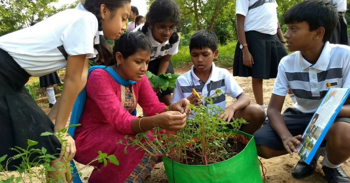 myHarvest works with children, teaching them farming and the ways of the soil