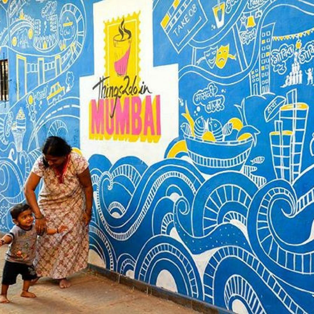 The designs in Mumbai are unique and colourful. Image Courtesy: Instagram