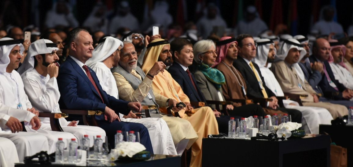 Prime Minister Modi addresses the World Government Summit in the UAE (Source: narendramodi.in)