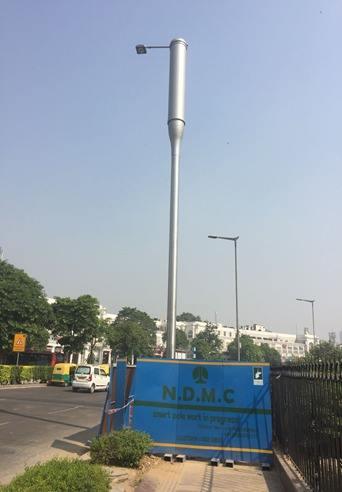 'Smart poles' (Source: Facebook/New Delhi Municipal Council)
