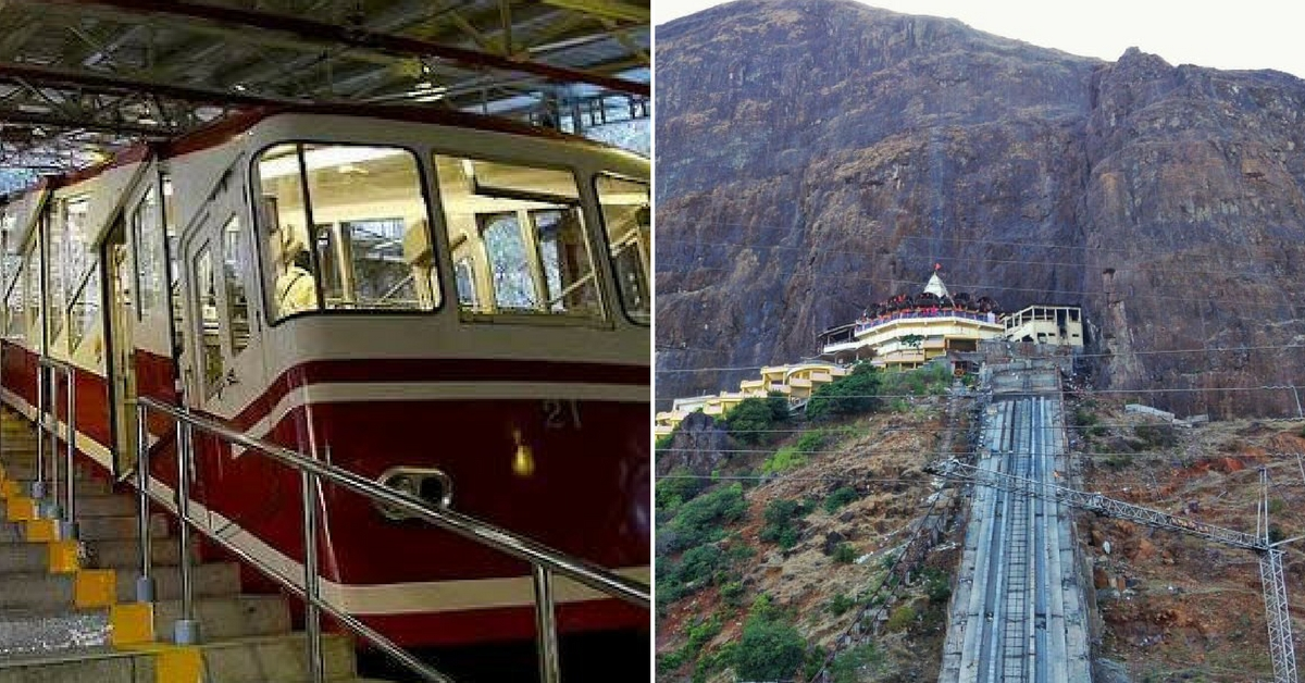 The Funicular Trolley will help pilgrims reach the temple on the hill. Image Courtesy: Twitter