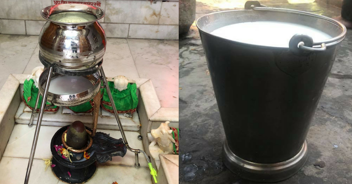 This Brilliant Hack by Meerut Students Saved Over 150 Litres of Milk Offered in Temple!