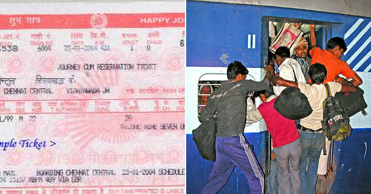 Fining ticketless travellers helped the Railways earn Rs 1097 crore! Representative image only. Image Courtesy: Wikimedia Commons.