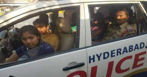 Hyderabad cop exam centre school girls