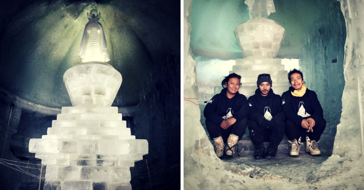 This Ladakhi Ice Sculpture Unites Buddhism And Fight Against Global Warming