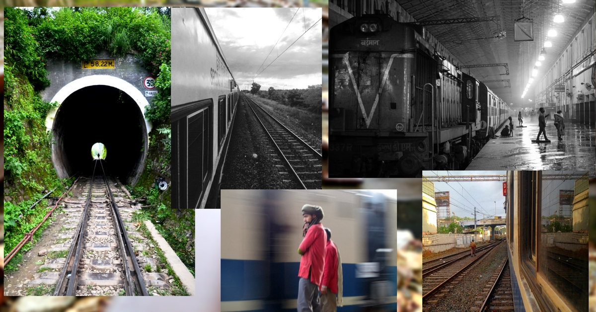 Photo collages of Indian railways