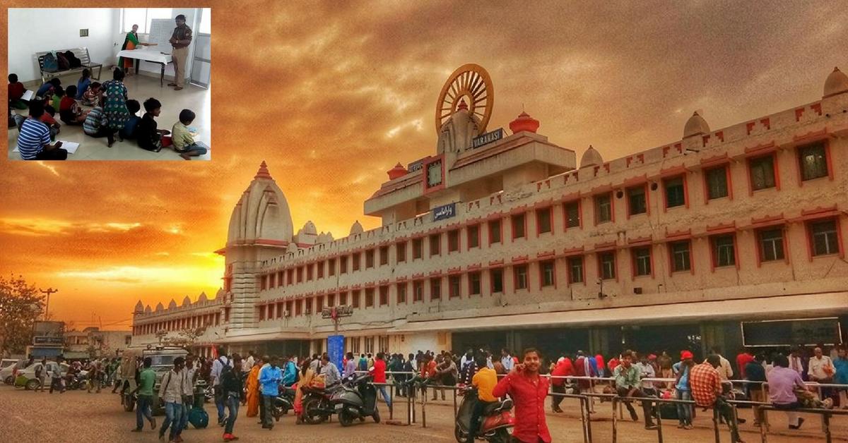 At Varanasi Station, Railway Police Transform Spare Room Into School For Poor Kids!