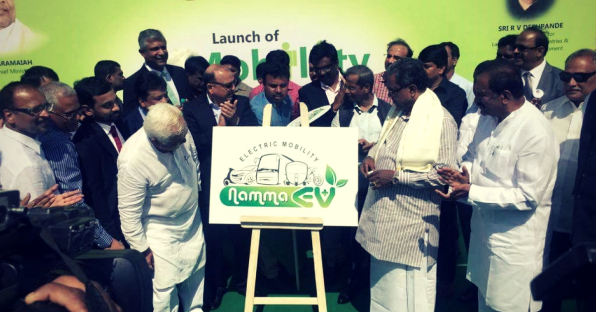 Chief Minister Siddaramaiah during an 'E-mobility awareness campaign' earlier this year.