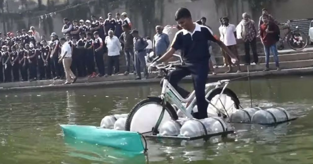 Made By Nashik School Students, This Floating Cycle Can Clean Ponds!