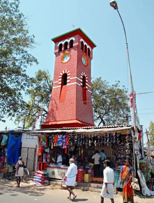 Tower clock in Trichy. (Source: Facebook)