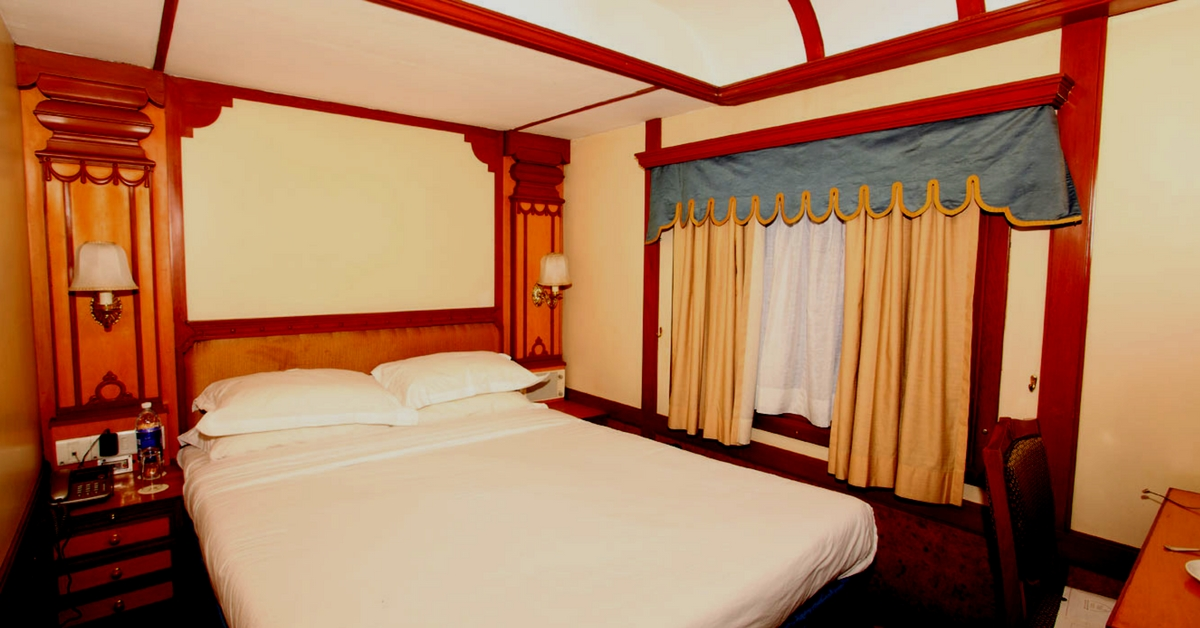 Have a good night's sleep, in these luxurious beds, aboard The Deccan Odyssey a luxury train. Image Courtesy: The Deccan Odyssey.