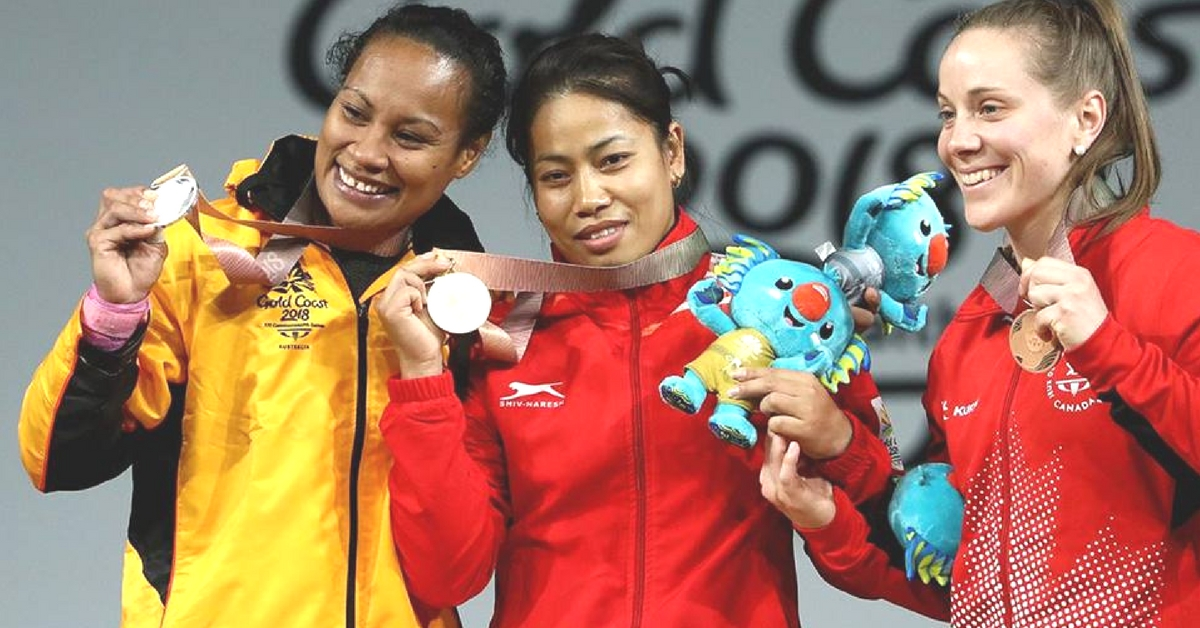 Ignored for Arjuna Award, Sanjita Chanu Stakes Claim With India's 2nd Gold at CWG 2018!