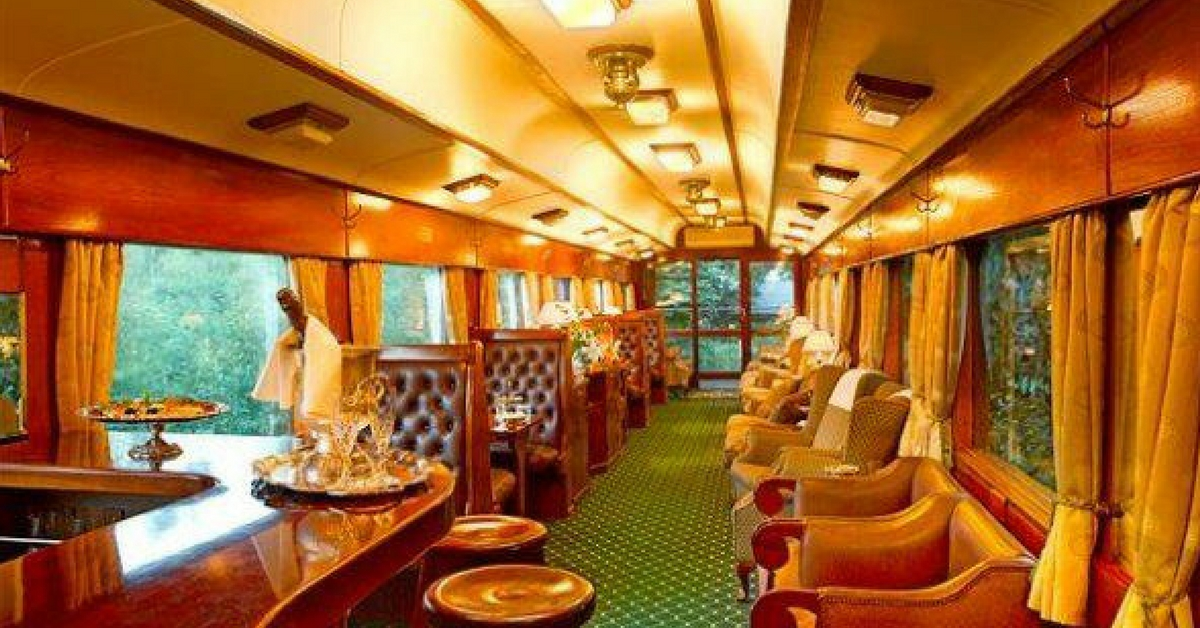 Sit at the bar, and let the staff take care of your every need, on this luxury train. Image Courtesy: Facebook.