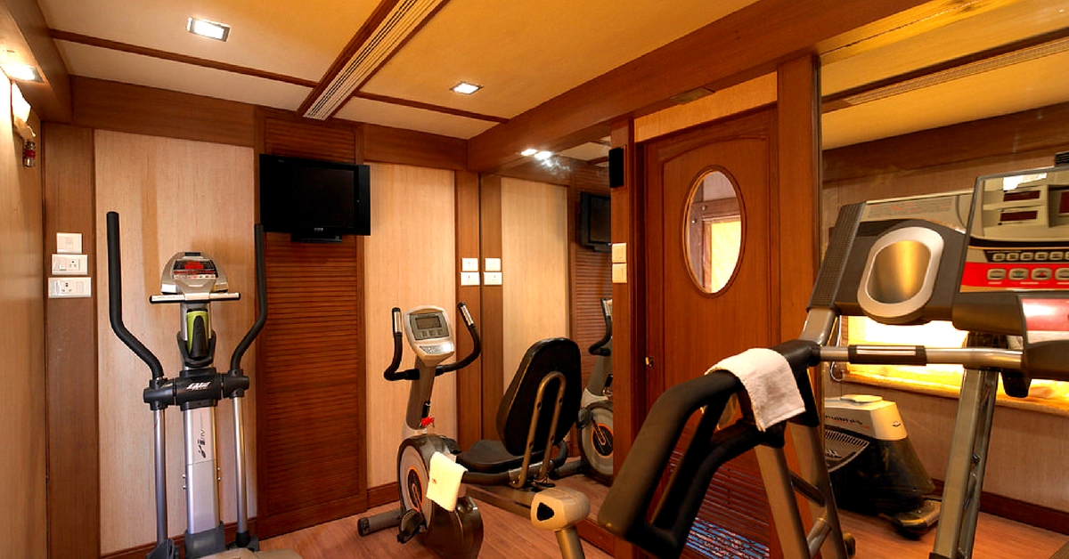 The Golden Chariot Train, has a well-equipped gymnasium! Image Courtesy: Flickr