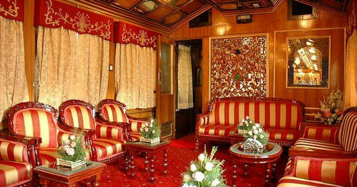 The Royal Orient Express, is a luxury train boasting of beautiful heritage furniture. Image Courtesy :Facebook.