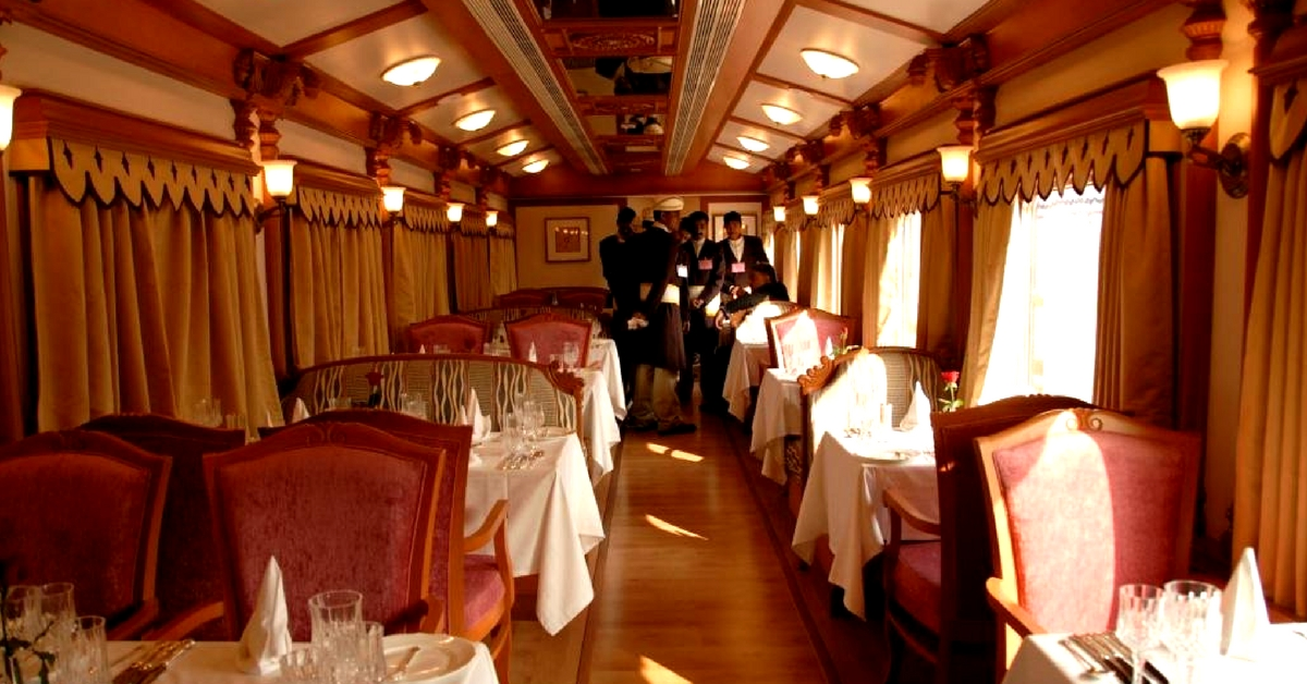 The staff on this luxury train leaves no stone unturned, in making sure you have a great experience. Image Courtesy: Flickr.