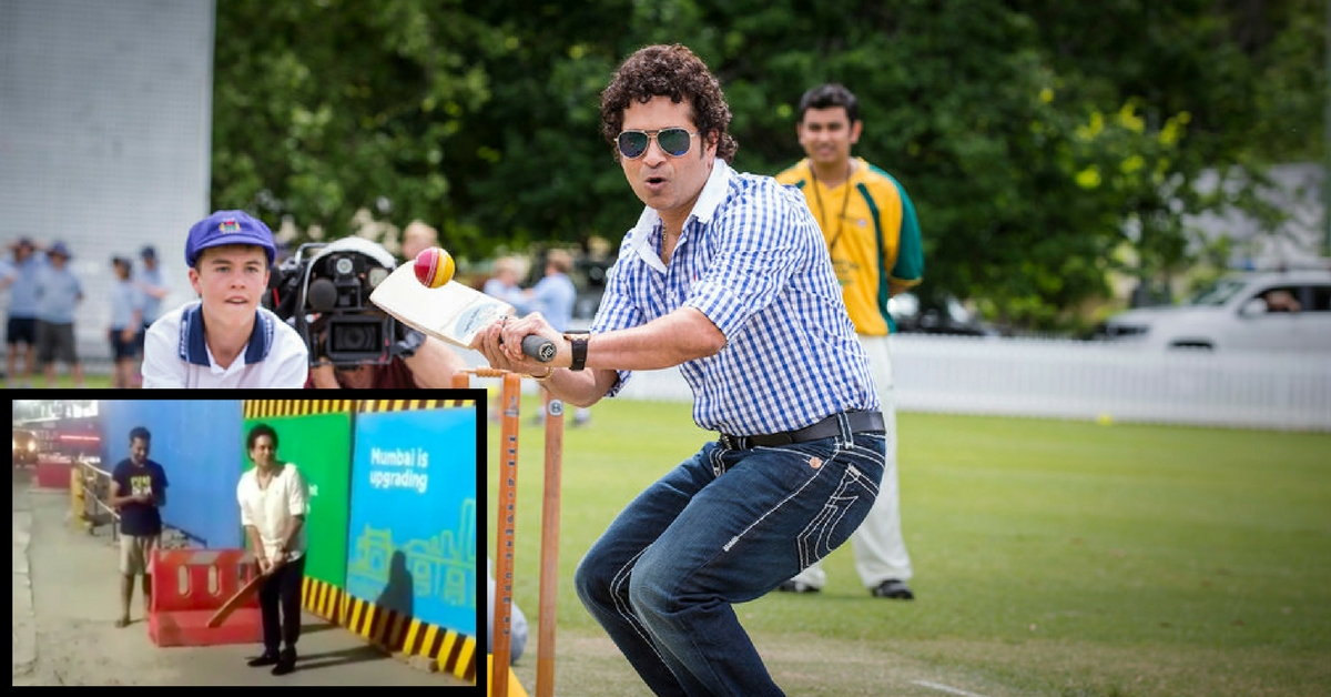 Video: Miss Seeing Sachin in Action? Watch Him Playing Gully Cricket in Mumbai!
