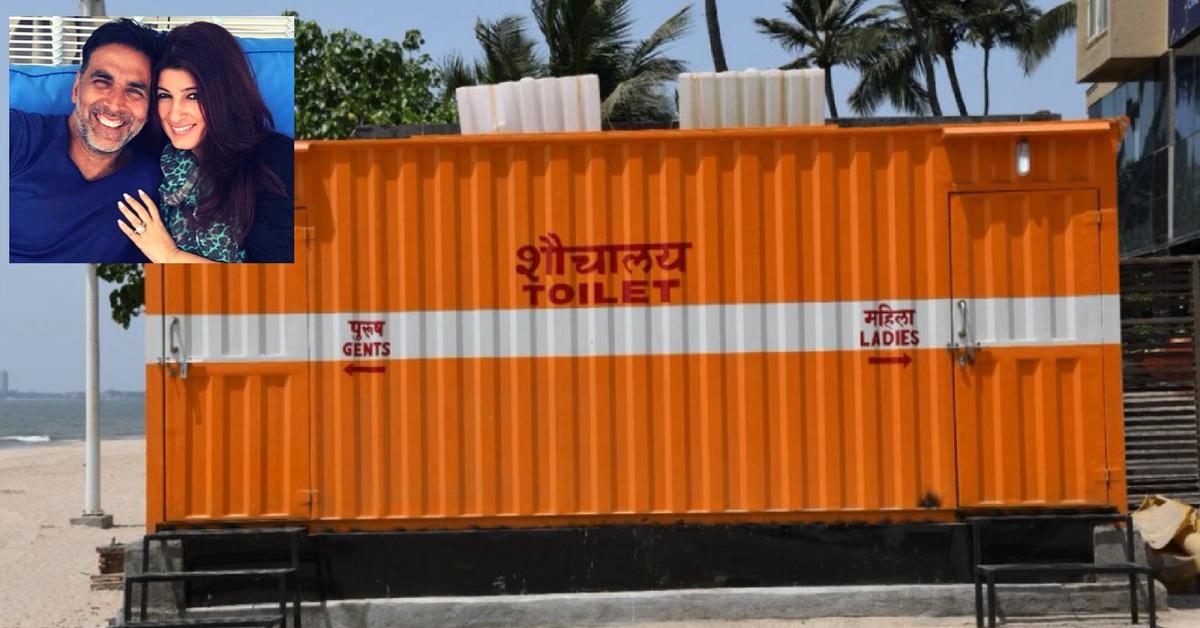 8 Months After Twinkle's Tweet, Akshay Kumar Funds Bio-Toilets at Juhu Beach!