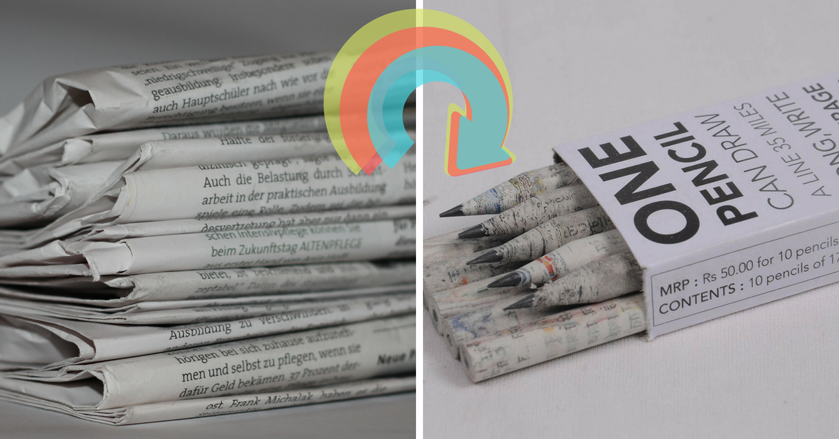 Pencils Made From Recycled Newspaper? Get It From These Folks Who Make Them!