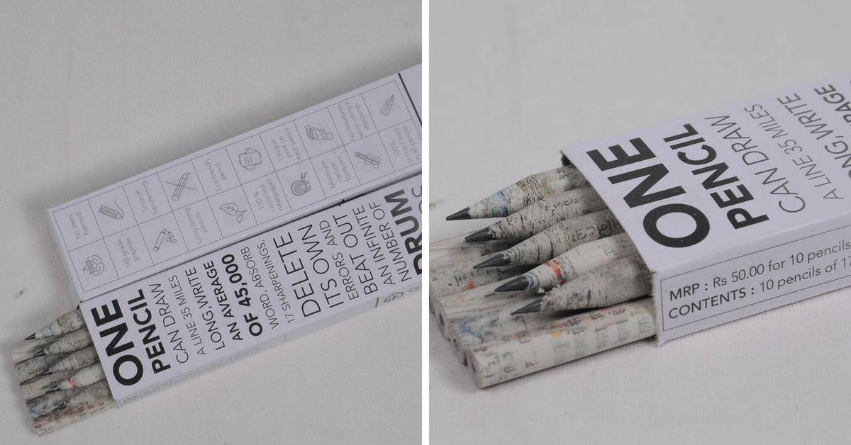 Go Grameen recycled paper pencils