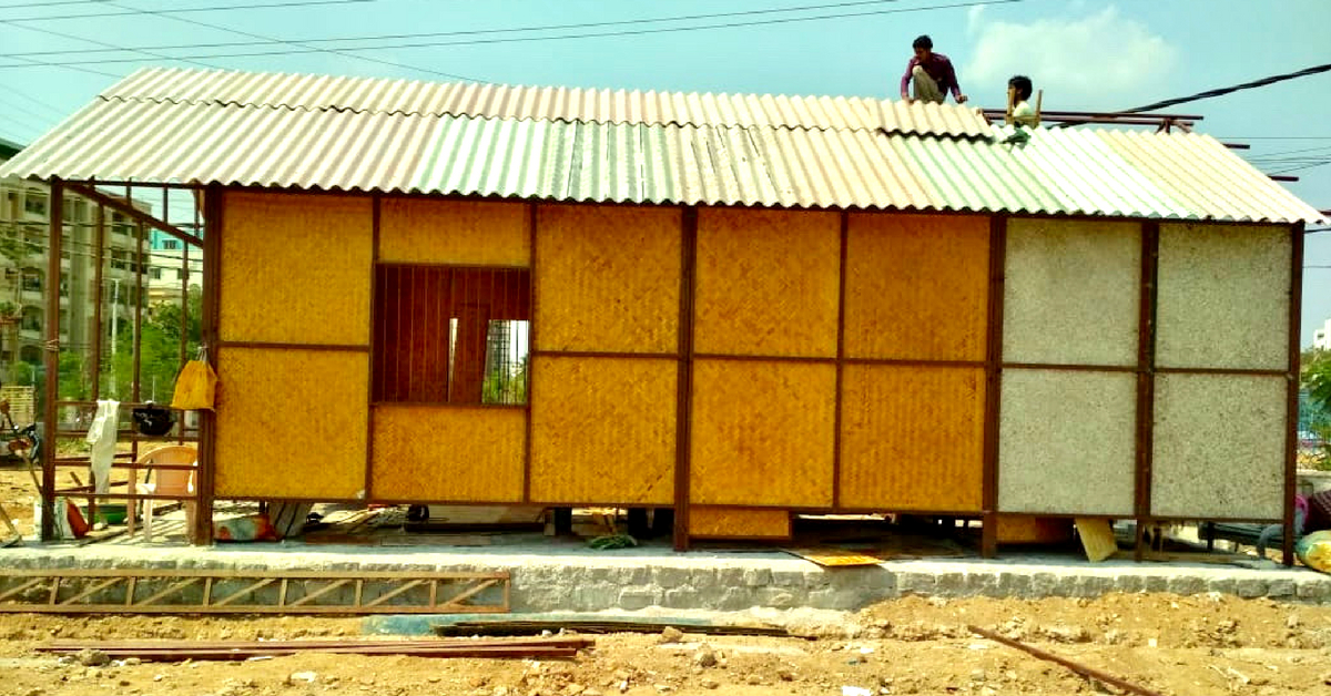 Made of Bamboo & Recycled Plastic, This Hyderabad Building Costs Just ₹8 Lakh!