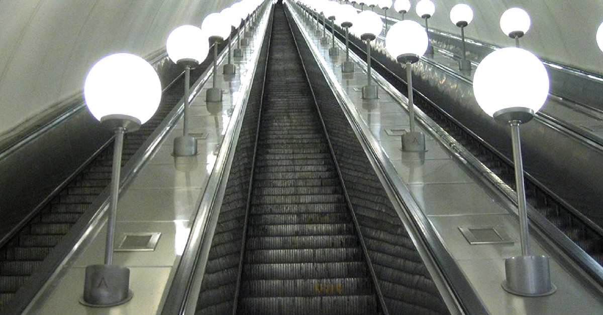 Janakpuri West Station, of the Delhi Metro, will have the country's tallest escalator. Image Credit: Metro Rail News.