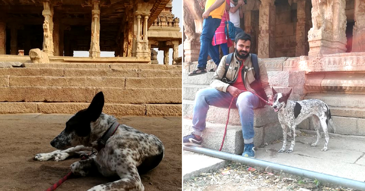 The duo spend time amidst the scenic temples in Hampi. Image Courtesy: Gowtham.