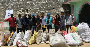 The hikers, visibly pleased with the collection, segregation and disposal of waste. Image Credit: India Hikes
