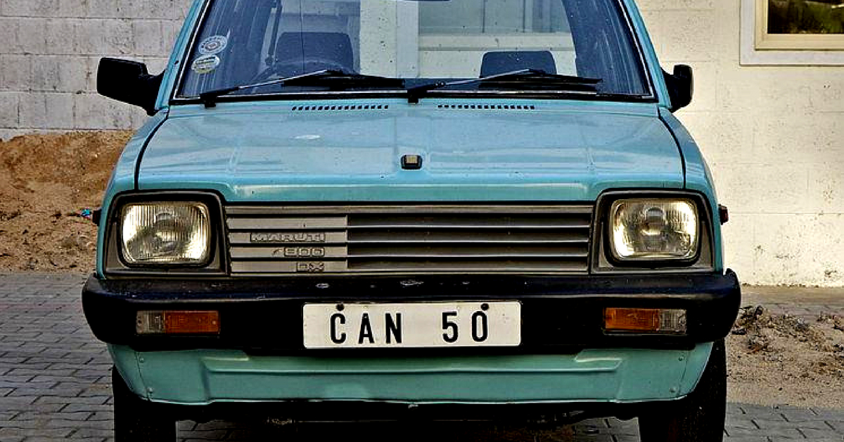 The iconic Maruti 800, a car India fell in love with. Image Courtesy:Facebook.