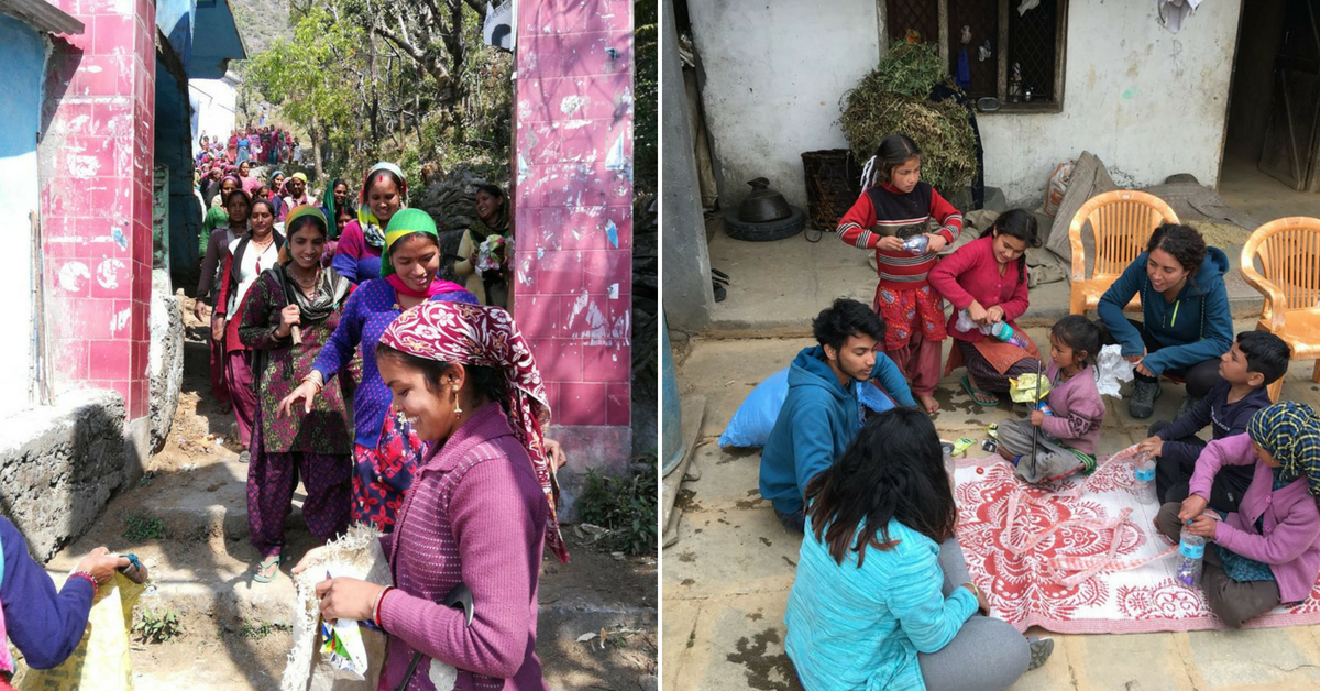 """The women were involved in the initiative, learning to upcycle waste. Image Credit: <a href=""""https://indiahikes.com/"""">India Hikes.</a>"""