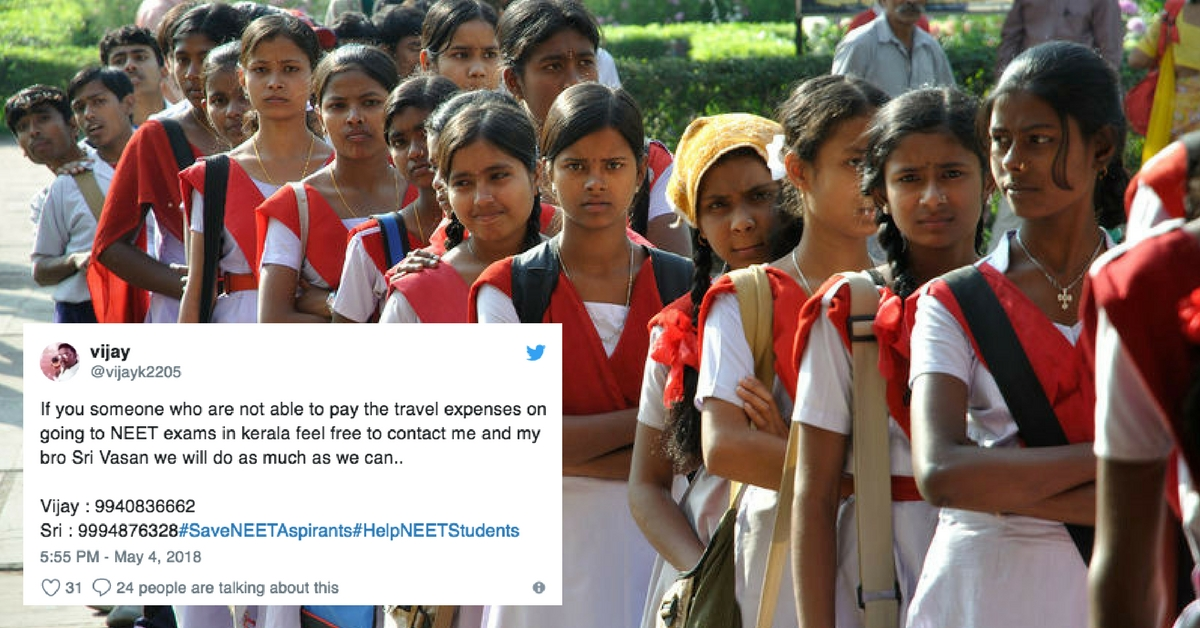 NEET: Citizens Step Up, Provide Tickets, Stay for Students Stranded by Last Minute Centre Change