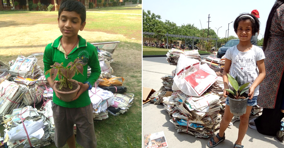 Old Newspapers Piling Up? Noida Woman Lets You Exchange It for Plants!
