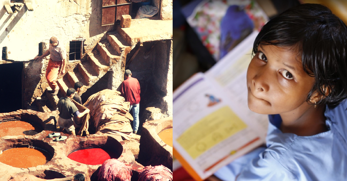 20-YO Transforms Home into School, Teaches Kids of Tannery Labourers Free of Cost!