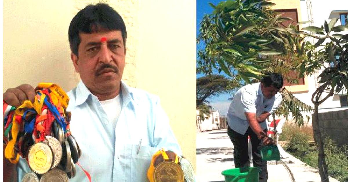 A Severe Handicap Didn't Stop This Karnataka Para-Athlete From Greening His Village!