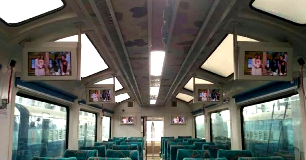 Behold amazing views, from the Vistadome coaches by the Railways.Image Credit: Marveltrip.com
