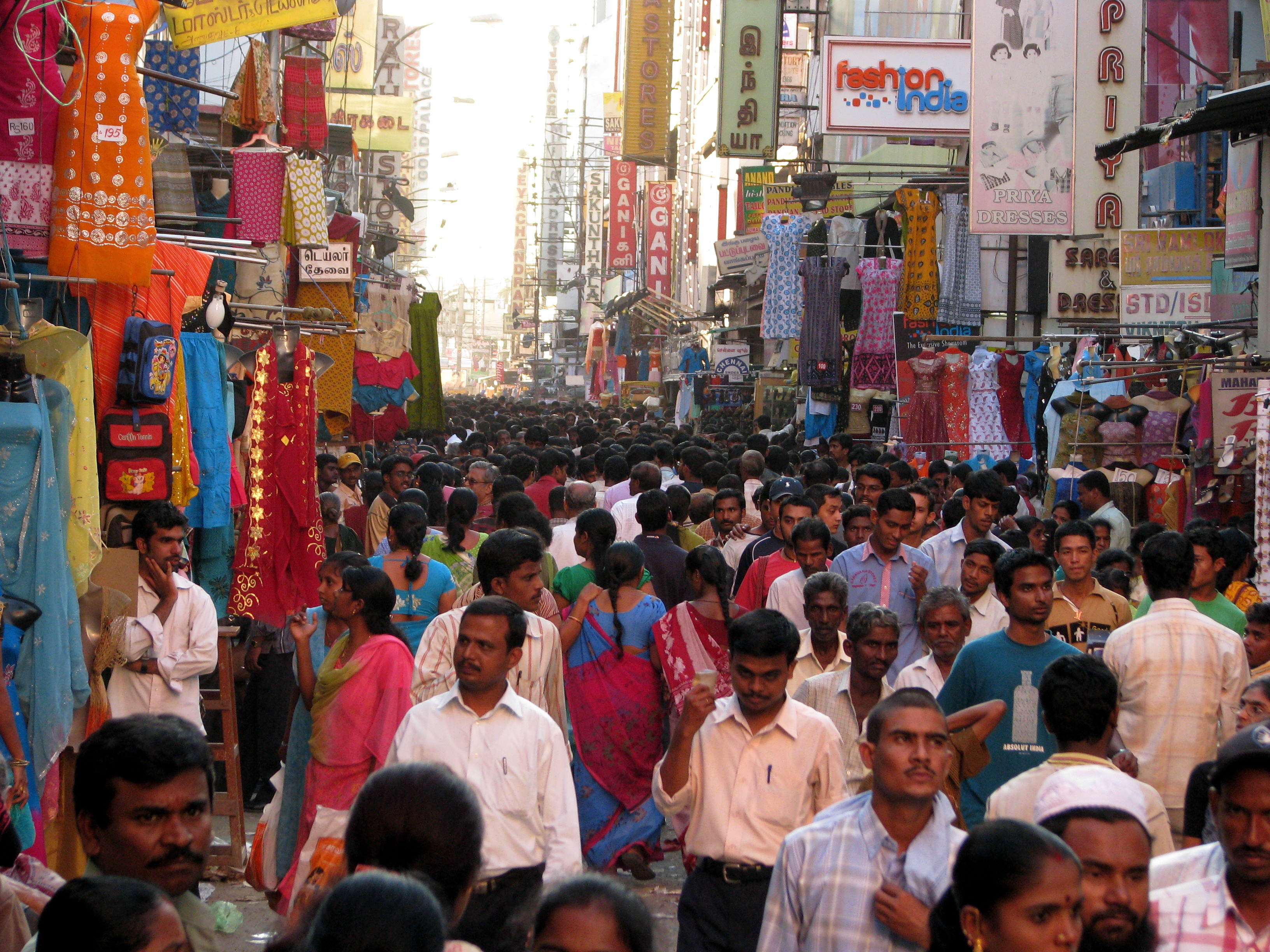 Rising population is a real concern. India is slated to go past China as the most populous country in the world by 2024. (Source: Wikimedia Commons)