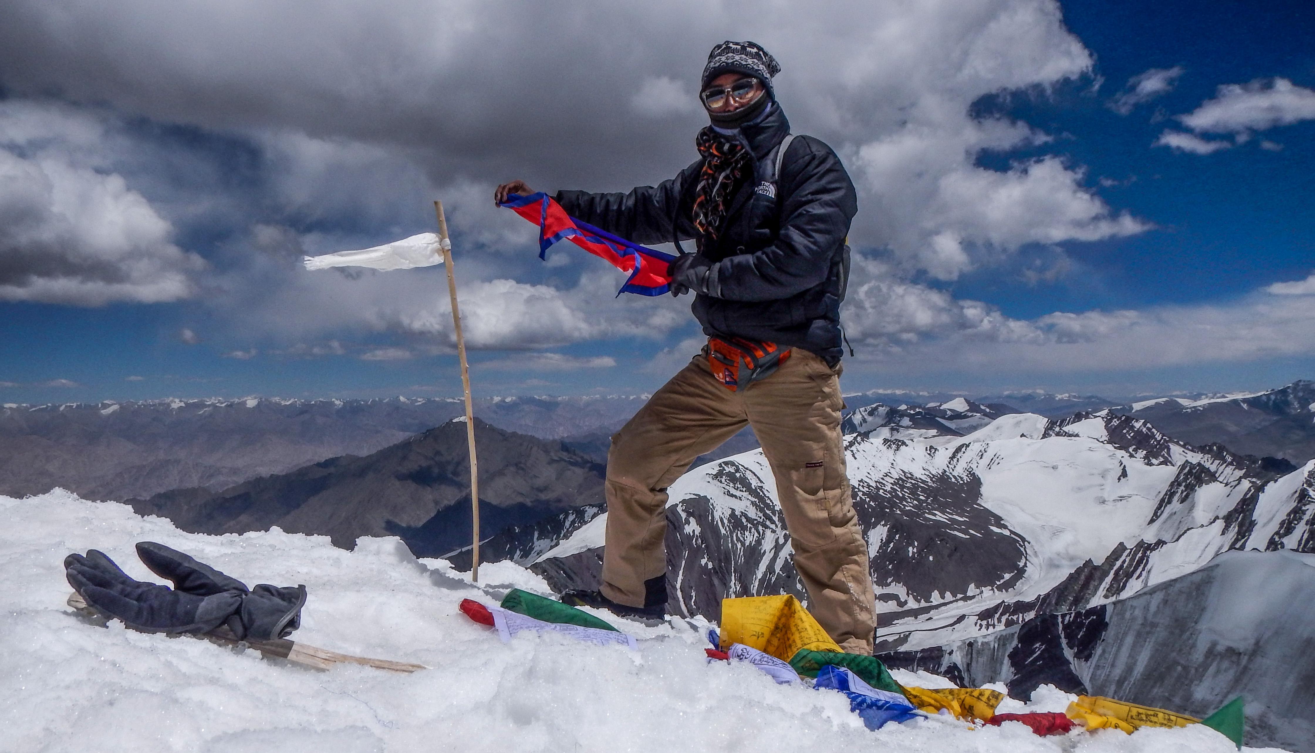 Bidhan Shrestha at the summit.