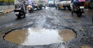 Potholes in Indian roads