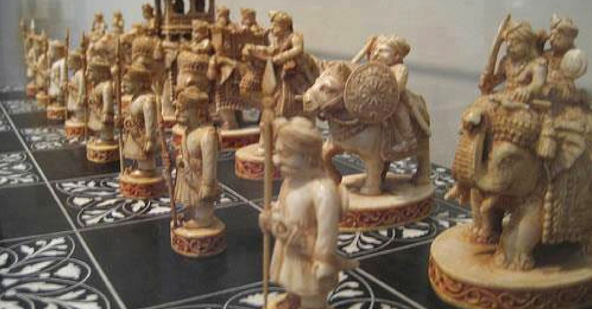 Chess was developed in India and early chess pieces, as seen in this picture, were quite intricate! Image credit:- Ourindiaourproducts