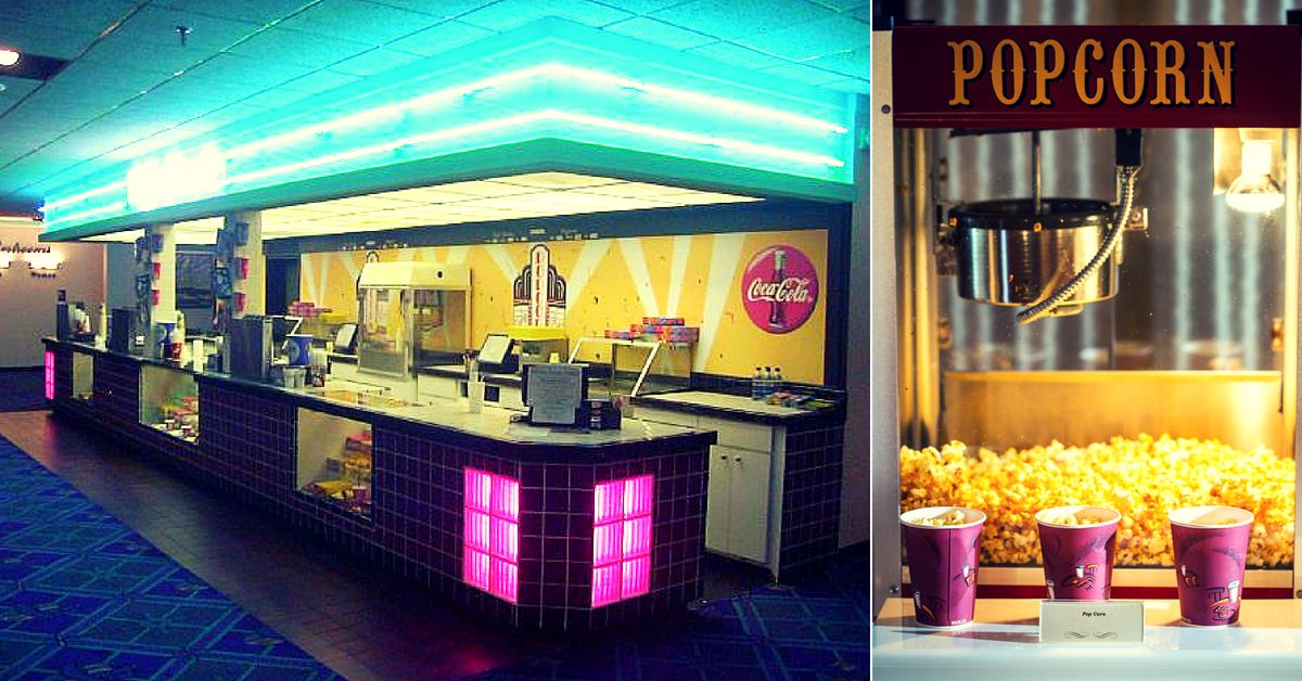 Movie goers movie theatres food