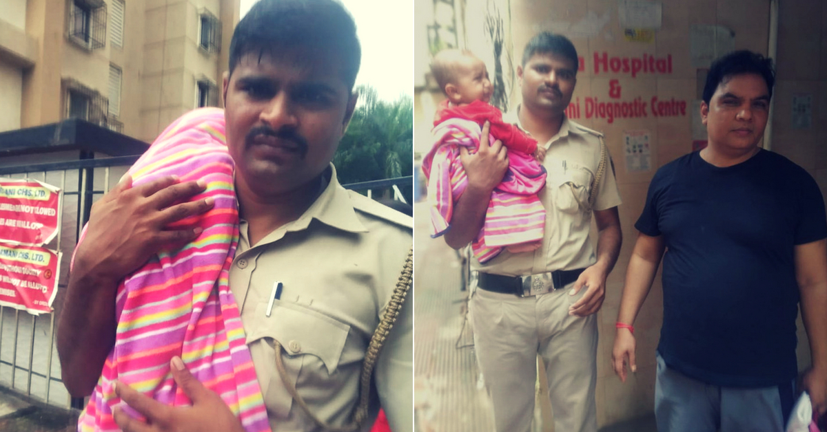 Brave Cop Wades Through Chest-Deep Water to Save Infant After Father's Tweet!