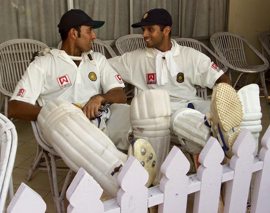 Rahul Dravid with VVS Laxman at Eden Gardens in 2000. Both men were involved in a historic 376 run partnership against the mighty Aussies. (Source: Rahul Dravid/Facebook)
