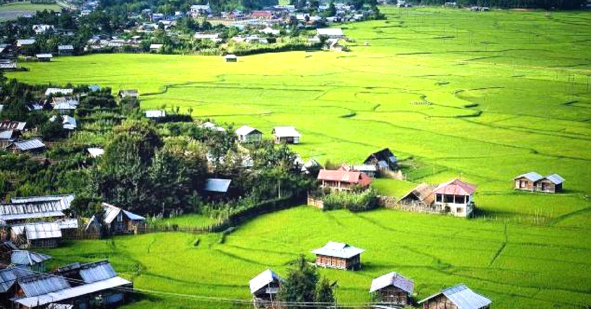 The ethereal Ziro Valley, in North East India is truly a natural paradise. Image Credit: Life in the NorthEast India