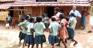 The school in West Bengal, will soon have a shed so students can eat their meals comfortably. Representative Image Only. Photo Source.
