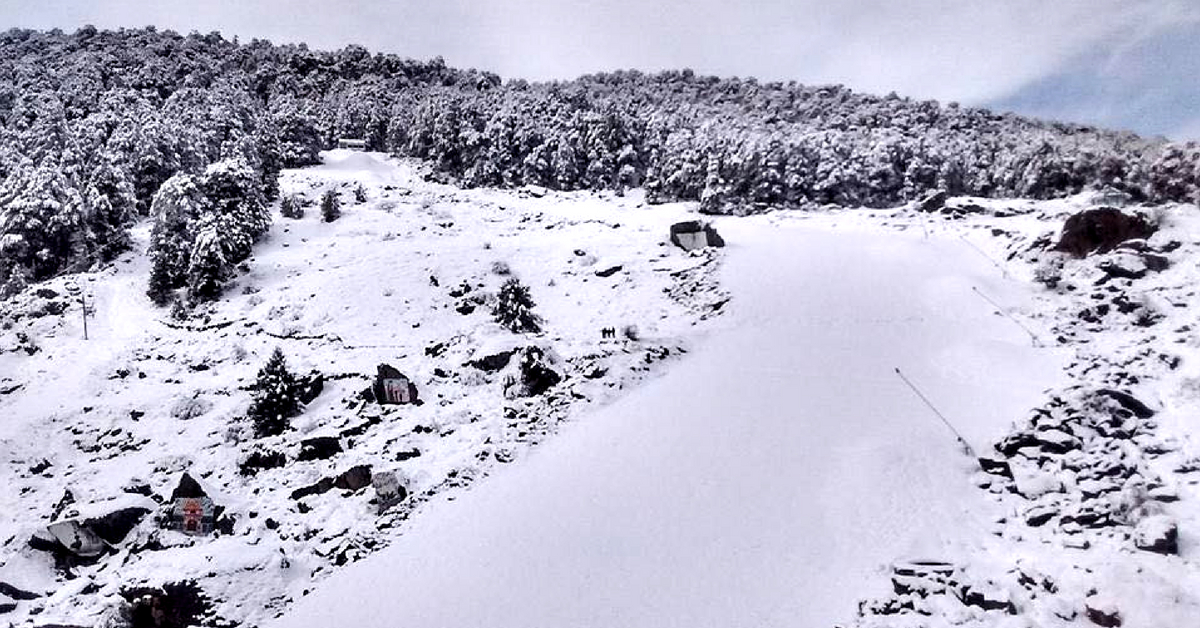 The unreal atmosphere at Auli, Uttarakhand, India. Image Credit: Auli,Uttarakhand,India