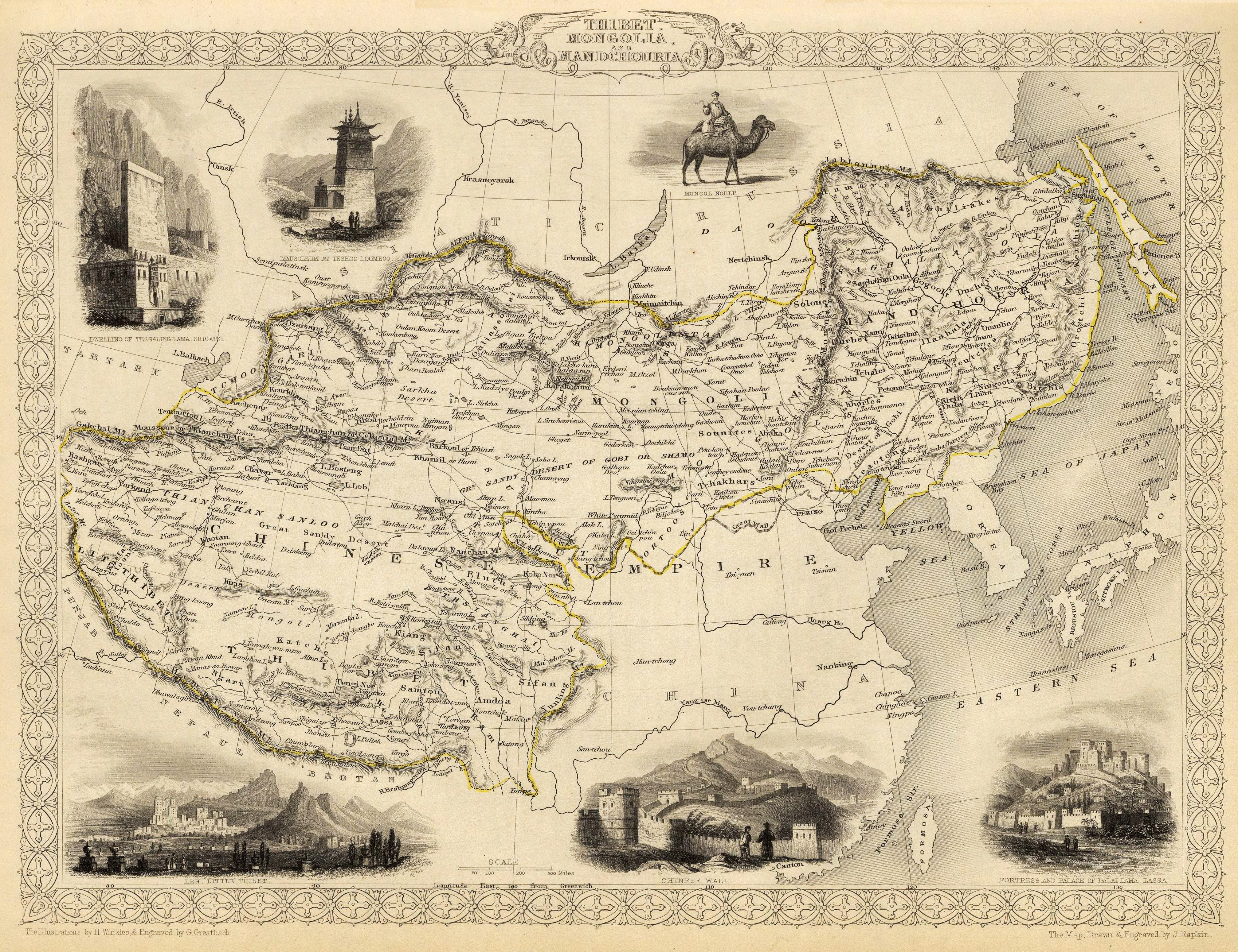 Old map of Tibet. (Source: Wikimedia Commons)